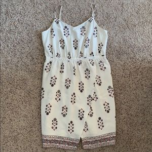 Madewell Ivory Floral Dress
